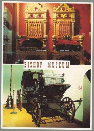 5 - Bishop Museum Postcards - Royal Coach - Thrones - Hawaii
