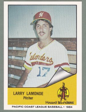 1984 Hawaii Islanders Larry Lamonde - Pittsburgh PA