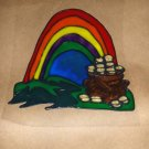 St Patty's Day Pot Of Gold Faux Stained Window Cling