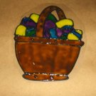 Basket Of  Easter Eggs  Faux Stained Window Cling