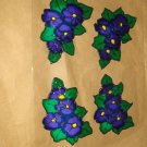 Pansie Corners Faux Stained Window Cling