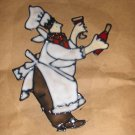 Wine Chef  #3 Faux Stained Window Cling