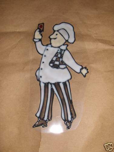Wine Chef  #1  Faux Stained Window Cling