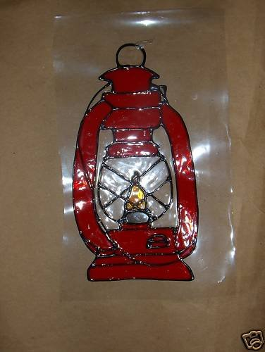 Latern  Faux Stained Window Cling
