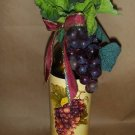 Red Grapebunch! Lighted Wine Bottle