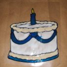 Birthday Cake  Faux Stained Window Cling