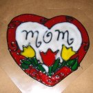 Mom  Faux Stained Window Cling