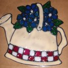 Pitcher With Flowers Faux Stained Window Cling