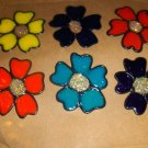 Flowers  Faux Stained Window Cling