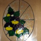 Pansy  Faux Stained Window Cling