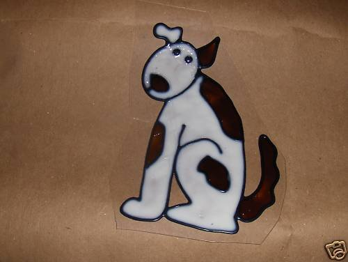Dog Faux Stained Window Cling
