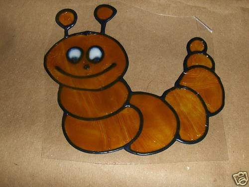 Catapiller  Faux Stained Window Cling