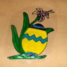 Easter Egg With A Lily Faux Stained Window Cling