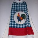 Rooster   Hanging Kitchen Crochet Top Dish Towel