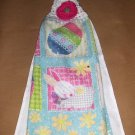 Easter Bunny  Hanging Kitchen Crochet Top Dish Towel