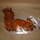 Squirrel Faux Stained Window Cling