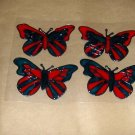4 Butterfly' s Faux Stained Window Cling