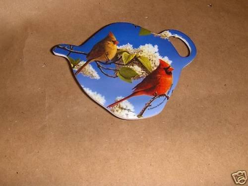 Cardinal Tea Bag Holder