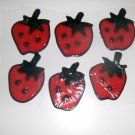Strawberry  Faux Stained Window Cling