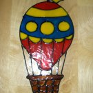 Hot Air Ballon  Faux Stained Window Cling