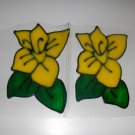 Daffodils Faux Stained Window Cling