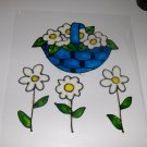 Daisy Basket   Faux Stained Window Cling
