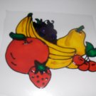Fruit  Faux Stained Window Cling