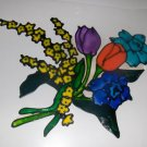 SPRING FLOWERS  WINDOW CLING HANDMADE #2