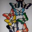 BUTTERFLIES FAUX STAINED WINDOW CLING HANDMADE