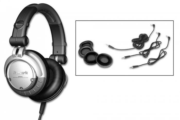 PHX / DJ Kopfhörer inkl. 3 Ersatz-Ohrpads & Kabel