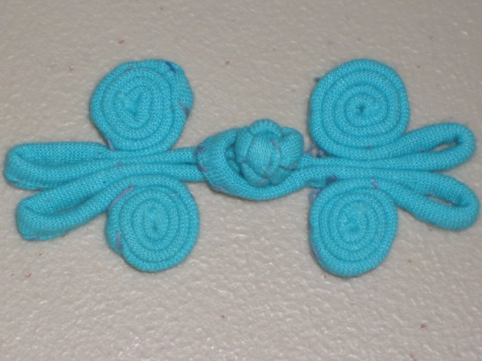 Lot of 5 Blue Chinese Knot Buttons Frogs Asian Closures Sewing Craft