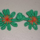 Lot of 5 Emerald Chinese Knot Buttons Frogs Asian Closures Sewing Craft
