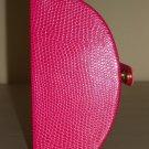 Pink Snakeskin Compact Jewelry Box Organizer