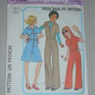 Simplicity Sewing Pattern 8093 Girls' Jumpsuit Sz 12-14 Uncut Vintage Hooded Jumpsuit