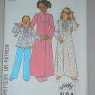 Simplicity Sewing Pattern 7731 Girls' Nightwear Sz 14 Uncut Vintage Robe Nightgown Pajamas Set