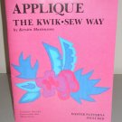 1988 Kwik Sew Applique Pattern Book Vintage 80s Craft
