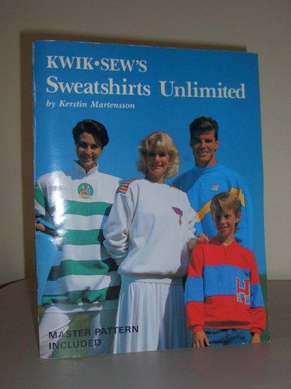 1989 Kwik Sew Sweatshirts Unlimited Book Vintage 80s Sewing Pattern