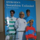1989 Kwik Sew Sweatshirts Unlimited Book Vintage 80s Sewing Pattern