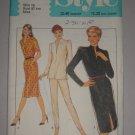 1980 Style Pattern 3064 Dress Set Size 16 Uncut Retro Puff Sleeve Dress Top and Skinny Pants