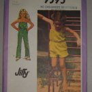 Simplicity Sewing Pattern 9395 Girls' Jumper Sz 5 Uncut Child's Jiffy Jumpsuit