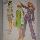 CUT Vintage Simplicity Pattern 8881 MiniDress Pants Sz 10 Women's Retro Dress Tunic Pants Scarf Set