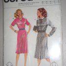 Burda Pattern 8753 Pleated Dress Size 12-14-16-18-20 Uncut 80s Knee Length Shirt Collar Dress