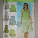 Simplicity Pattern 4546 Flouncy Skirts Size 12-14-16-18 Uncut Women's Flirty Feminine Circle Skirt