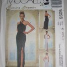 McCall's 9296 Women's Formal Dress Size 10-12-14 Uncut Elegant Fitted Prom Dress with Straps