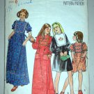 CUT Girls' Prairie Boho Dress Size 8 Butterick 5127 Children's Ruffled Gathered Yoke Hippy Bohemian