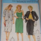 Dress with Front Tucks Gathered Jacket Sizes 8-20 Uncut Women's Burda Pattern 7498 Retro Dress Set