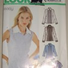 Ladies' Fitted Blouse Tuxedo Ruffles Sizes 8-18 Uncut New Look 6217 Sewing Pattern Princess Seams