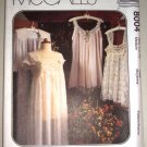 Negligee Nightie Lingerie Robe Sizes 12-14 Uncut McCall's 8004 Sheer Lacy Romantic Babydoll Gown