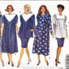 Pregnancy Dress Top Skirt Size 6-12 Uncut Butterick Pattern 5280 Maternity Set Sailor Collar Smock