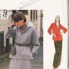 CUT 70s Top Skirt Pants Size 22.5 Butterick Pattern 4943 Plus Size Women's Retro Casual Separates